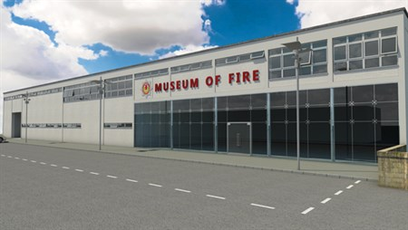 Artist impression of the Museum of Fire